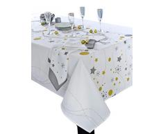 CALITEX Nappe rectangulaire, Polyester, Blanc, 150x300 cm