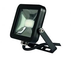 Perel LEDA4001NW-B Projecteur LED Design Aluminium, 10 W, Blanc