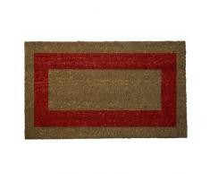 Oryx 5291055-bande Paillasson Coco Fibre Rouge 40 x 60 cm