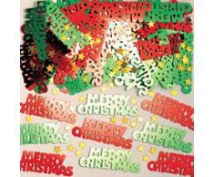 amscan Confettis métalliques Joyeux Noël