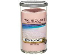 Yankee Candle bougie colonne moyenne « Sable rose », rose