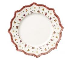 Villeroy & Boch Toys Delight Assiette plate blanche, 29 cm, Porcelaine Premium, Blanc/Rouge