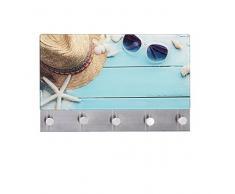 Wenko 50413100 Penderie Murale Magnétique Motif Beach Dimensions 30x19 cm