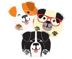 Creative Converting 336667 Assiette en forme de chien assorti, 0,5 x 8,75 x 7,7inc, Multicolore