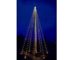 Star 488-01 LED Décoration Flagpole Guirlande Lumineuse 8 x 50 LEDs Blanc Chaud 10 m
