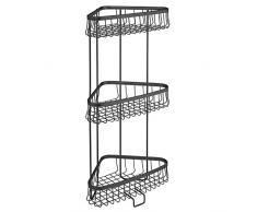InterDesign York Lyra etagere d angle salle de bain, petite étagère de douche à suspendre en métal, noir mat