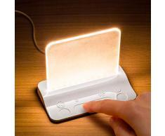 Integral LED ILTL-WH Integral Touch Glow Lampe LED de Chevet Avec Variateur Tactile dIntensité pour Bébé, Nourrison, Enfant, Garderie, Chambre, Bureau, Blanc, Plastique, 2 W, 12x90 mm