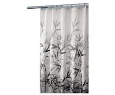 InterDesign Anzu rideau douche, rideau baignoire lavable de 183,0 cm x 183,0 cm en polyester, rideau salle de bain avec motif florale, gris