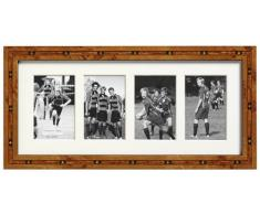 Addison Ross Cadre photo marqueterie Dos en fibre Marron Pour 4 photos 6 x 9 cm