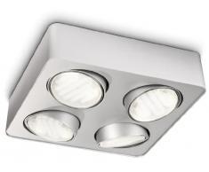 Philips EcoMoods 57954/48/16 Plafonnier 4 spots GX53 Aluminium