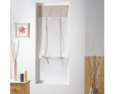 Homemaison Petits Cœurs Store droit Relevable Polyester Gris 60 x 150 cm