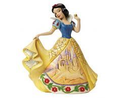 Disney Traditionsitions Figurine Blanche Neige en Robe avec Son Château