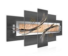 Tableau decoration murale Abstrait - XXL Impression sur Toile Salon Appartment 5 Parties - prêt à accrocher - 103953b