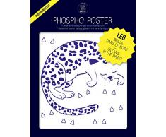 Omy Affiche phosphorescente Leo (format 30 x 40 cm) - brille dans le noir…