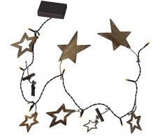 Star 726-78 Nature Star Guirlande Lumineuse à DEL 16 Lumières 2,4 W Brun 10 x 84 x 0,5 cm