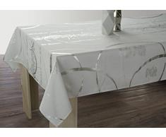 Le linge de Jules Nappe Shiny - Entretien Facile Blanche - Taille : Rectangle 150x240 cm