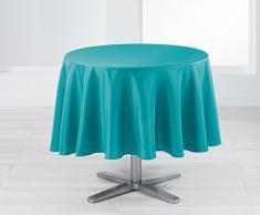 Douceur dIntérieur Punchy Nappe Polyester Uni Bleu 180 x 180 x 180 cm