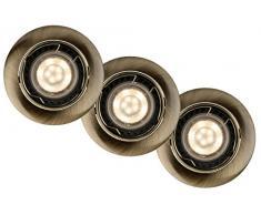 Lucide FOCUS - Spot Encastrable - Ø 8,1 cm - LED Dim. - GU10 - 3x5W 3000K - Bronze 03 - Ensemble de 3