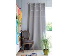 Lovely Casa R61426002 Carmelle Rideau Polyester Gris 260 x 135 cm