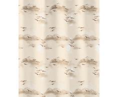 Kleine Wolke 826282305 Rideau de Douche Sky 180x200 cm en Marron, Vinyle, 20x20x5 cm