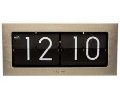 NeXtime 5198ZI Big Flip Horloge Métal Argent 16,7 x 36 x 8,6 cm