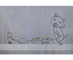 Art For Kids - 100 x 150 cm en polypropylène 100 Paintclub Tapis Gris