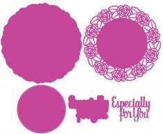 Le papier Boutique spécialement pour vous Floral Napperon Coupe Dies