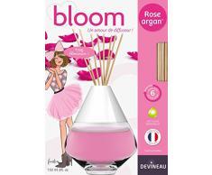 Devineau 1612524 Bloom Diffuseur de à Froid Coloré Parfum Rose Argan 150 ml