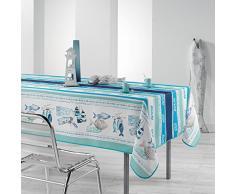 Le Jardin des Cigales OLERON Nappe rectangulaire Polyester 240 x 150 cm