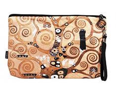 Fridolin Trousse de Toilette Trousse de Maquillage Trousse Arbre de Vie de Gustav Klimt