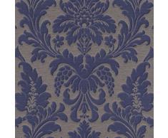 Rasch 513684 Trianon Papier peint damassé non tissé bleu/gris
