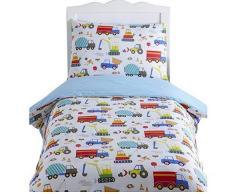 Kidz Club Parure de lit réversible pour enfants Engins de construction