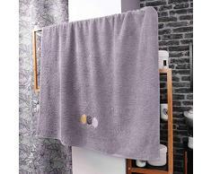 douceur dintérieur drap de bain 90 x 150 cm eponge brodee fougerys gris