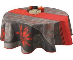 Nappe anti-taches Lotus rouge - taille : Ronde diamètre 160 cm