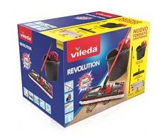 Vileda Revolution système Serpillère avec Seau, strizzatore et Plaque avec Chiffon en Microfibre 2 Morceaux de Tissu 28.5 x 40 x 28.3 cm Multicolore