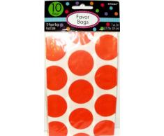 Amscan Candy Buffet Polka Dots Orange 10 Bags Treat
