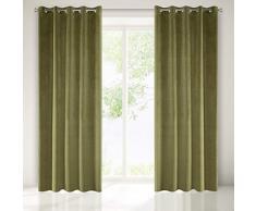 Eurofirany Rideaux, Polyester, Vert Olive, 140x250cm