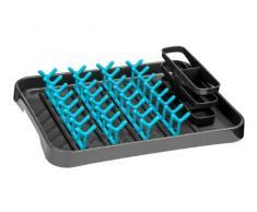 Premier Housewares 0806571 Égouttoir à Vaisselle Gris/Bleu