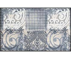 Wash+Dry 069362 Arabesque Paillasson, Résine Acrylique, Gris, 75x120 cm