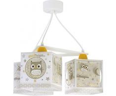 lampe suspension enfant 3 lumières Good Night Hiboux Beige