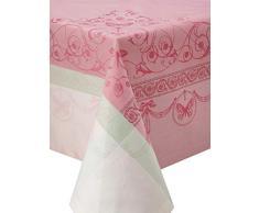 Garnier-Thiebaut EUGENIE Nappe Antitache, Coton, Rose, 174 x 304 cm