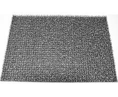 AstroTurf 10187308FG Classic Paillasson Tapis dEntrée Polyéthylène Gris Clair 60 x 40 cm
