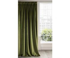Eurofirany Rideau en Velours, Tissu, Vert Olive, 140 x 270 cm