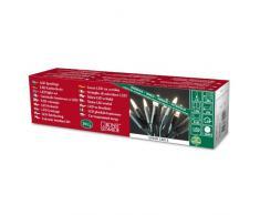 Konstsmide 6300-100 Mini Guirlande 10 LED Blanc Chaud Retro Design + Câble Vert 230 V