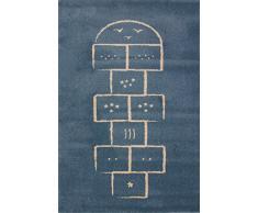 Art For Kids - 100 x 150 cm en polypropylène 100 cm-Marelle Tapis Bleu