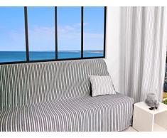 Soleil docre Cotonnade Jeté de Canapé Polyester Coton Gris Anthracite 170 x 250 cm