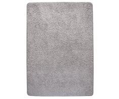 Misento 292143 Shaggy Tapis à poils longs, gris, 133x190cm