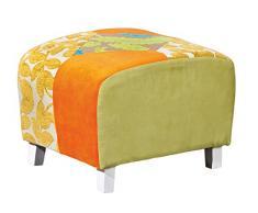 Links 20500045 Sao Bento Repose Pied Patchwork Tissu/Polyester/Coton/Bois 48 x 39 x 36 cm