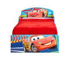 Cars 516CAC Lit pour Enfant Bois, Rouge, 142 x 77 x 59 cm
