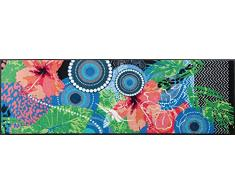 Wash dry paillasson lucky paradise tapis lavable, Résine acrylique, multicolore, 60 x 180 cm